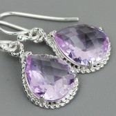 lavender bridesmaid earrings