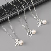 Personalized Pearl Bridesmaid Necklaces