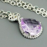 lavender bridesmaid necklace