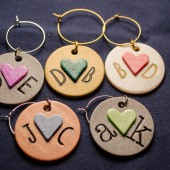 Sweethearts Personalized Wine Charm-Your custom initials