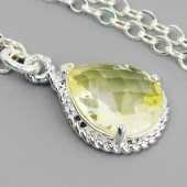 yellow bridesmaid necklace