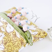 Yellow Dandelions Jewelry Travel Bag - Small Zipper Pouch