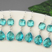 sea green bridal jewelry