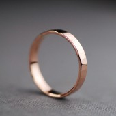 Textured Solid 14k Rose Gold Wedding Ring