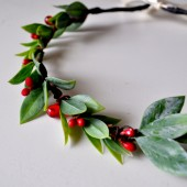 Holiday Hair Crown - Very Berry