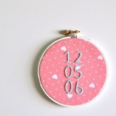 Custom Date Embroidery, Anniversary Gift, Personalized Wedding Gift, LIMITED EDITION