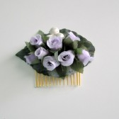 Lavender Rose Hair Comb, Woodland Wedding, Festival Accessory