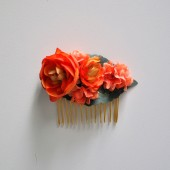 Orange Ranunculus Hair Comb