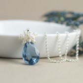 Blue Bridal Necklace