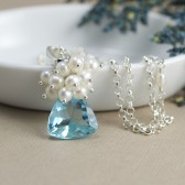 Sky Blue Bridal Necklace