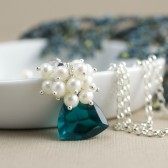 Teal Blue Bridal Necklace
