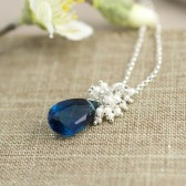Peacock Blue Bridal Necklace