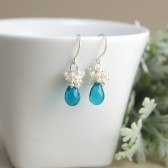 Teal Wedding Earrings