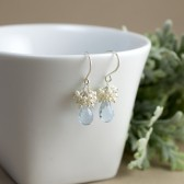 Pale Blue Bridal Earrings