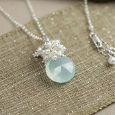 Aqua Bridal Necklace