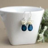 Peacock Blue Bridal Earrings