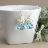 Sky Blue Bridal Earrings