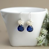 Sapphire Blue Wedding Earrings