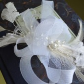 Beautiful White Feather Fascinator