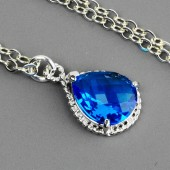 Blue Bridesmaid Necklace