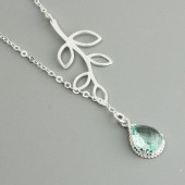 green bridesmaid necklace