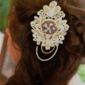 Plum Floral Lace Hairpiece