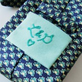 Embroidered Tie Square
