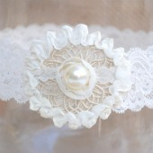 Soutache Circle Wedding Garter