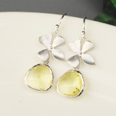 yellow bridesmaid earrings
