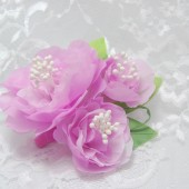 Pink roses bridal hair comb, Pink bridal hair accessories, Spring flowers for hair, Bridal hair accessories, Bridal hair clip