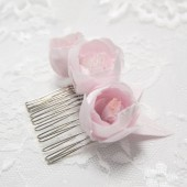 Bridal headpiece, Bridal hair comb, Blush pink Flowers, Blush wedding head piece, Bridal hair clip, Floral wedding comb