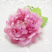 Pink Wedding Hair Accessory, Pink silk peony, Pink Flower Brooch, Pink flower Hair Clip, Wedding hair clip