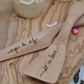 Personalized wedding cake servers