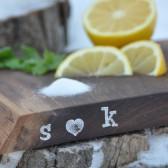 Personalized wedding cutting board