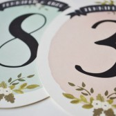 Oval Floral Table Numbers