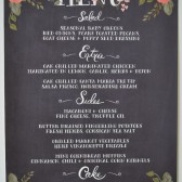 chalkboard inspired menu
