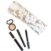 Gray Paisley Makeup Roll