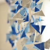 Geometric wedding garland