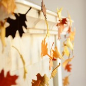 Fall wedding garland banner - Fall foliage - Fall leaves