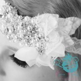 Hand-Beaded Bridal Bandeau Headband