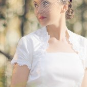 Sequined Bridal Birdcage Veil