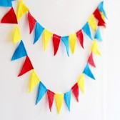 Circus wedding mini felt banner