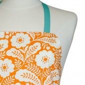 Kitchen Apron | Orange Floral