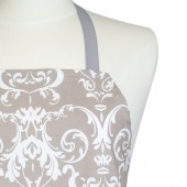 Kitchen Apron | Gray Damask