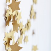 Rustic Gold Star Garland - Wedding Garland