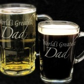 Father of the bride gift, beer mug coffee mug duo