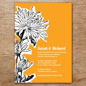 Dahlia Printable Wedding Invitation