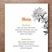 Dahlia Printable Wedding Menu