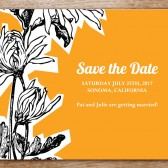 Dahlia Printable Save The Date