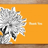 Dahlia Printable Thank You Card
